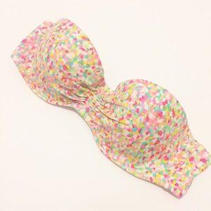 Victoria's Secret | Confetti Strapless Bikini Top